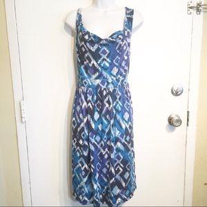 Liz Lange Maternity Nursing Friendly Printed Dress
